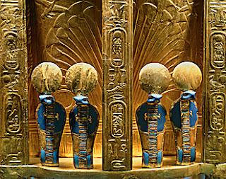 Cobra Details on Tutankhamun's Gold Throne
