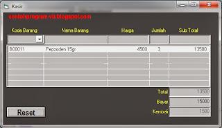 Contoh Program Kasir dengan VB 6.0