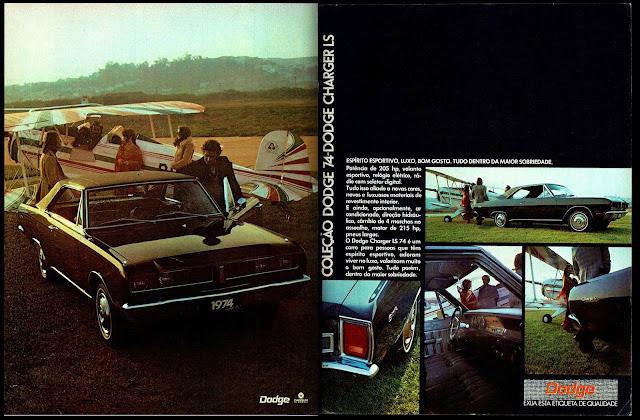 propaganda Chrysler Dodge Charger LS 74 - 1973