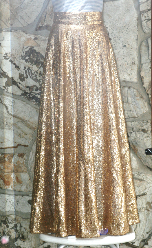 is beautiful diy gold sequin circle skirt midi and