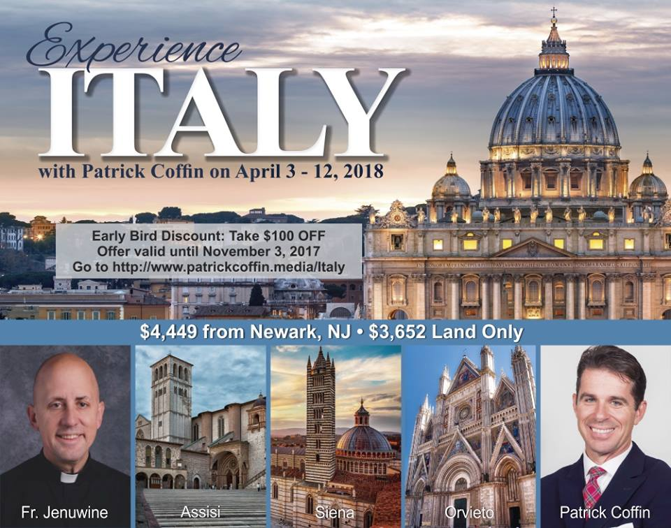 April 2018 Italy Pilgrimage with Patrick Coffin
