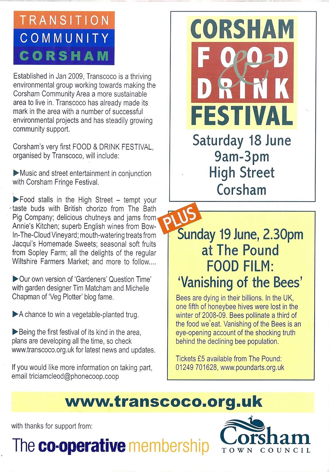 Veg Plotting: Corsham Food and Drink Festival