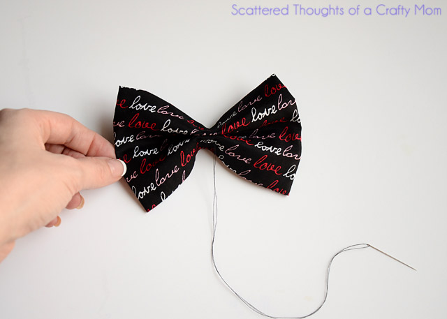 How to Hand Sew a Boys Bow Tie