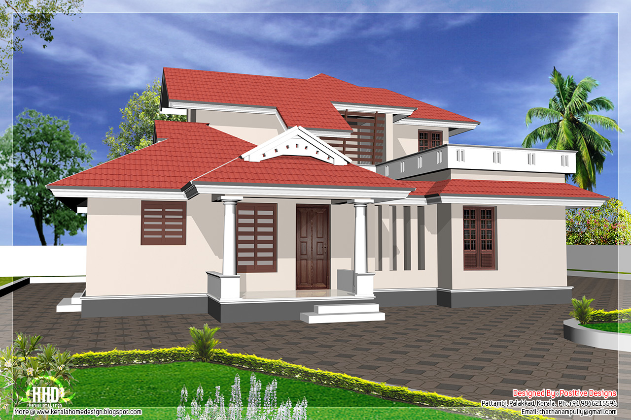 Kerala home front view design images - Kerala exterior model homes ...