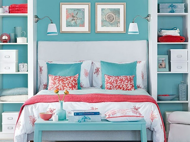 Modern day decor aqua bedroom decor for Modern day decor