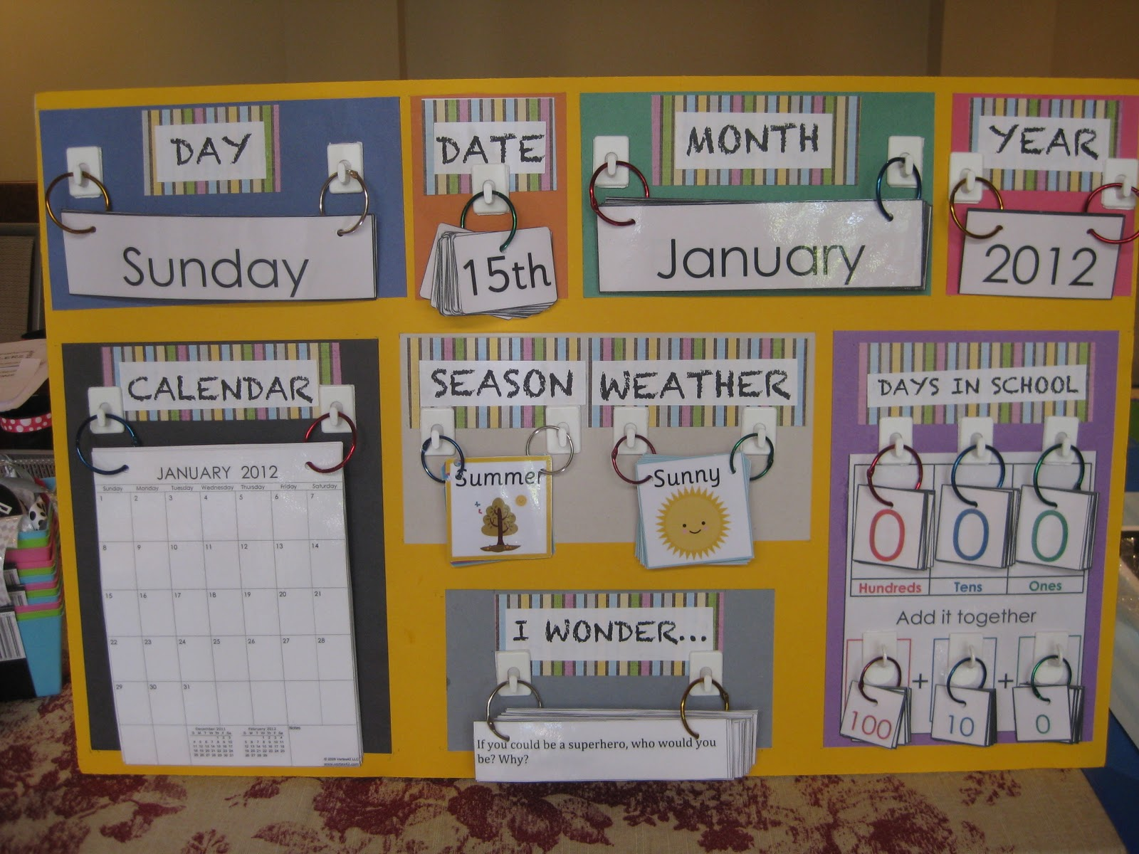 Calendar Display Ideas : Ging teaching and second grade oh my morning