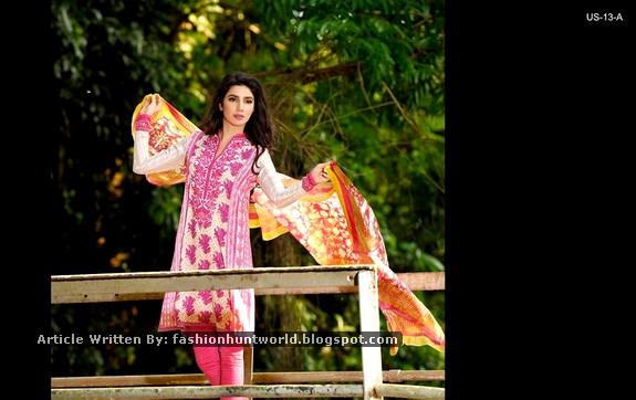 Mahira Khan Featuring Umar Sayeed Lawn 2015