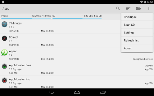 Appmonster Pro Backup Restore android