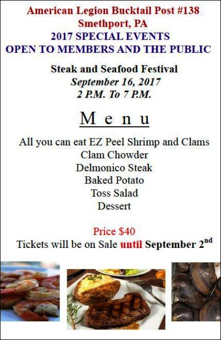 9-2 Steak & Seafood Festival, Smethport