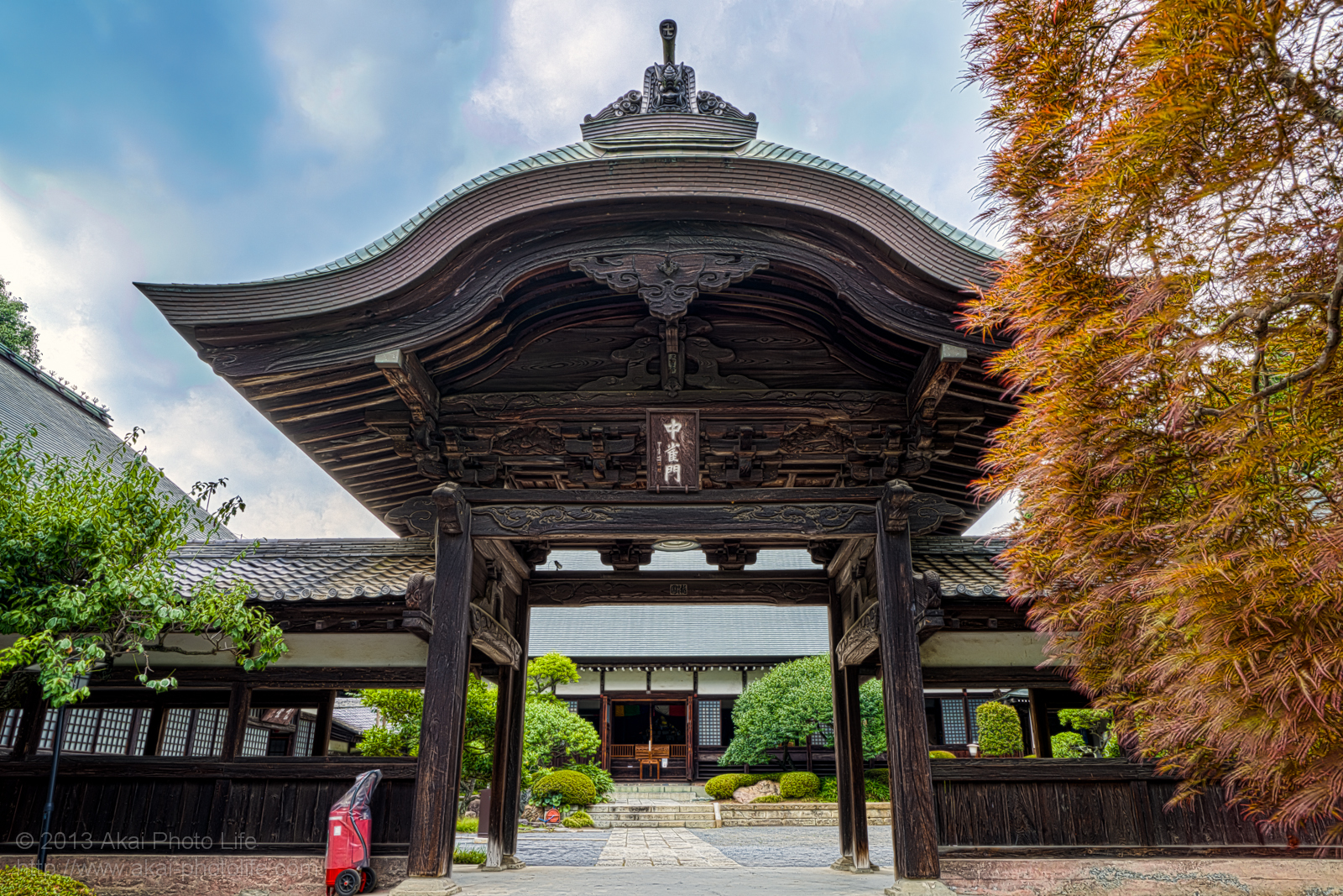 天寧寺、中雀門の写真