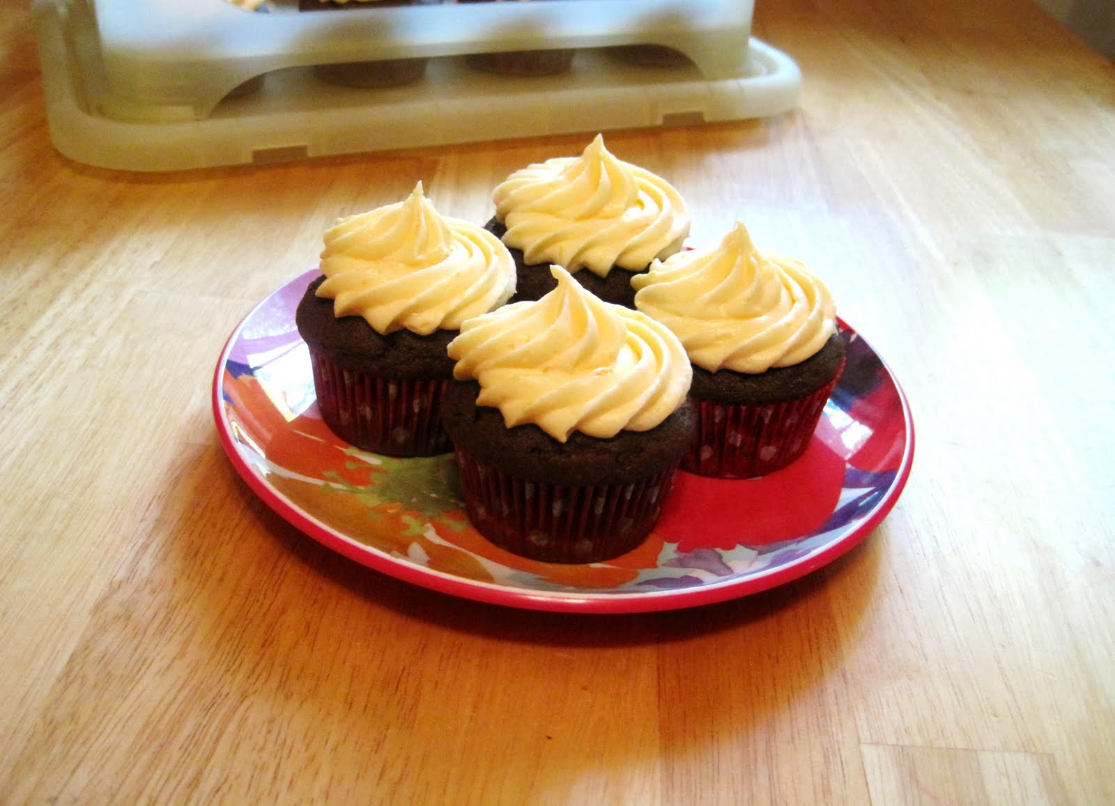 ... it. Love it.: Chocolate Cupcakes with Orange Cream Cheese Frosting