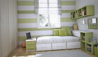 White and green teenage bedroom ideas