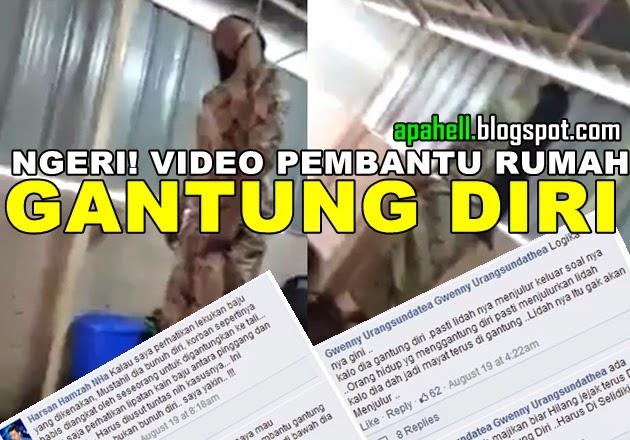 Ngeri !! Video Pembantu Rumah Gantung Diri (3 Gambar)