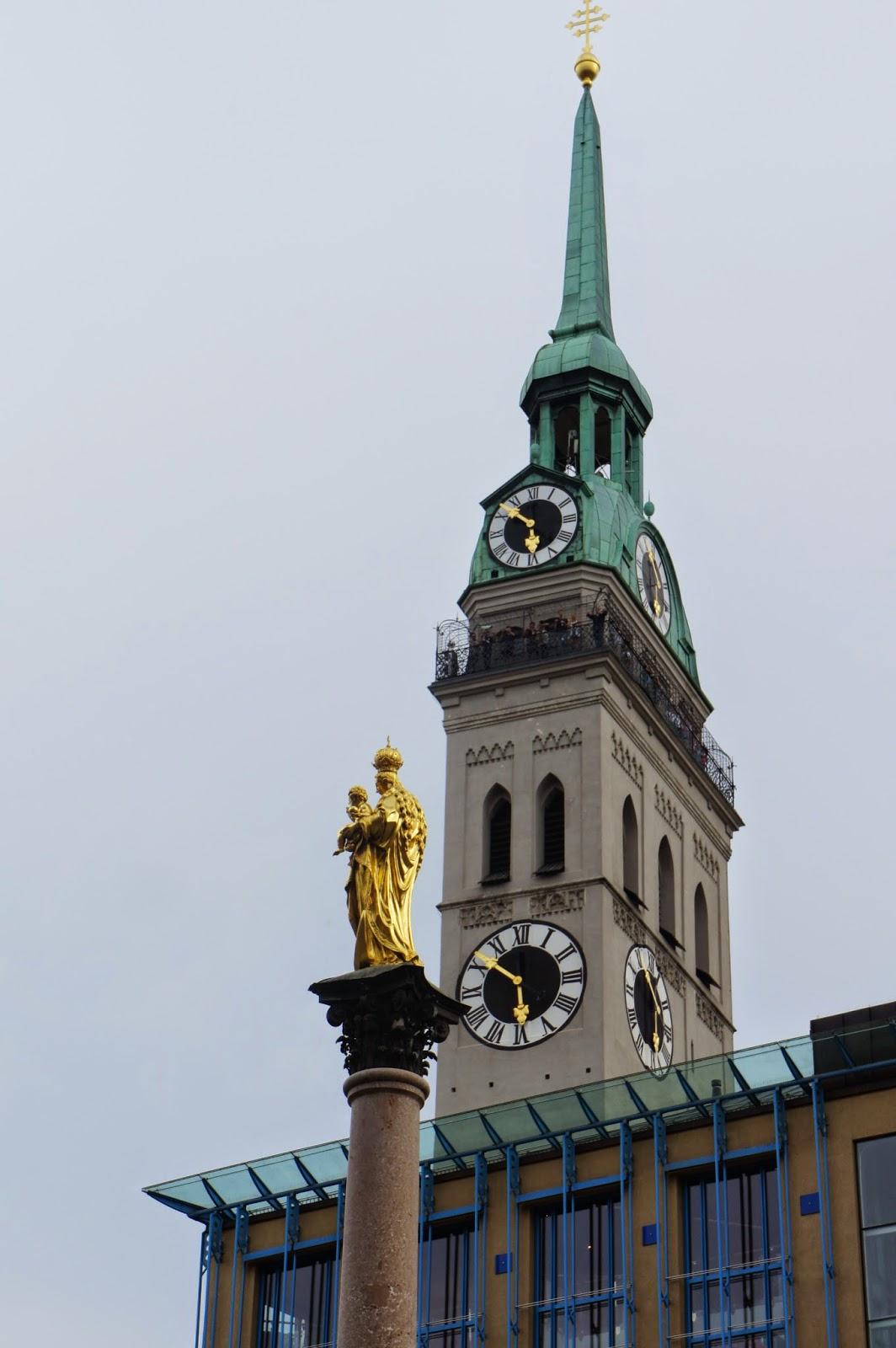 Columna de María y St. Peterskirche  (Marienplatz)