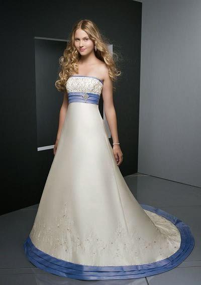 vestido de novia combinado con azul – vestidos baratos