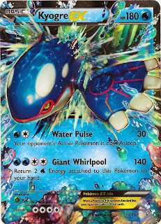 Kyogre EX Primal Clash Pokemon Card