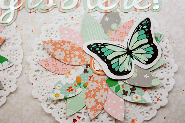 Allie Stewart Chickaniddy Crafts Flowers Layout close-up