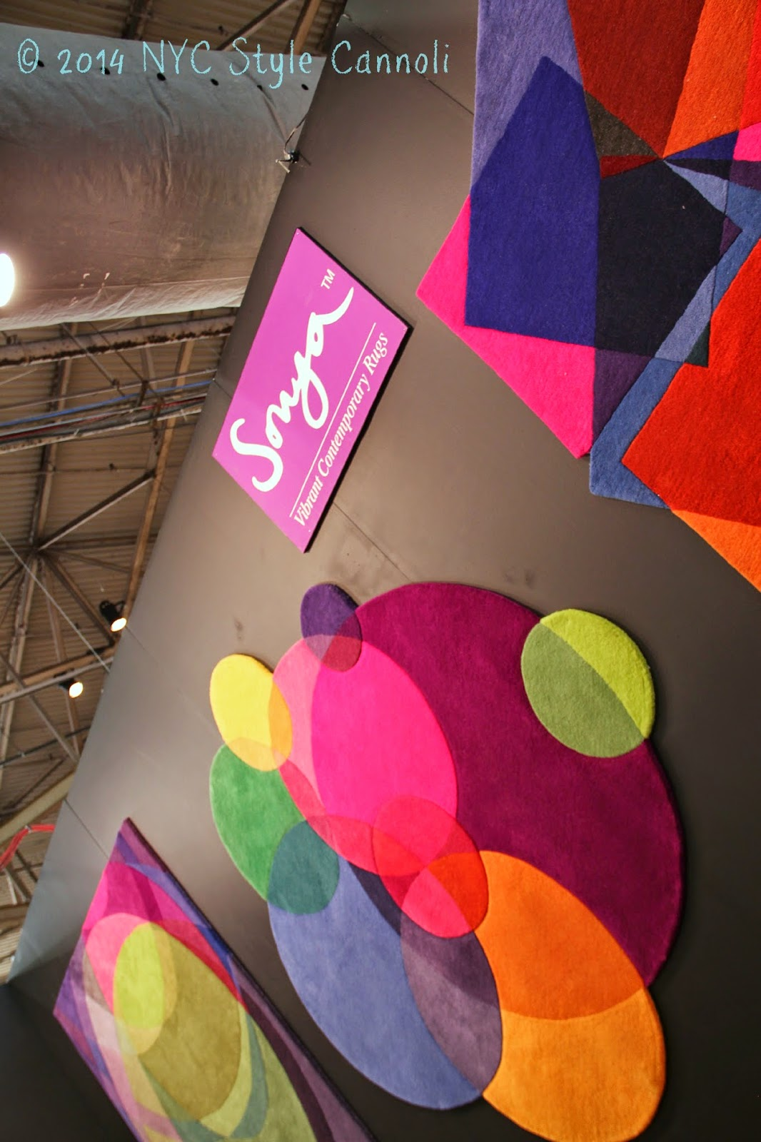 nyc style and a little cannoli sonya vibrant contemporary rugs i found these amazing rugs at the 2014 architectural digest home design show since i am a huge fan of color i thought they were fabulous