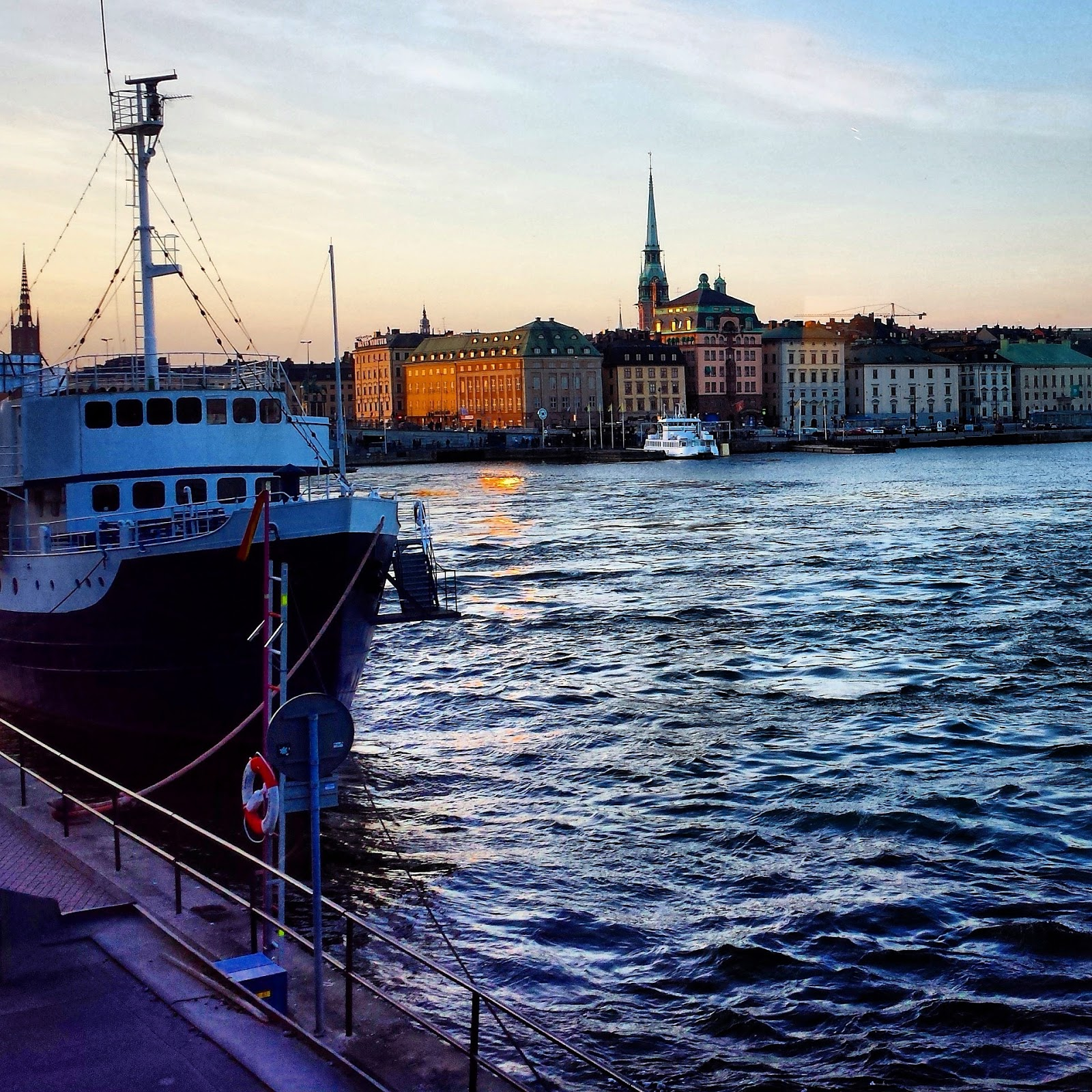 Stadsgårdsleden and view of Gamla Stan, Stockholm  |  A pre-emptive unwinding at sea on afeathery*nest  |  afeatherynest.com