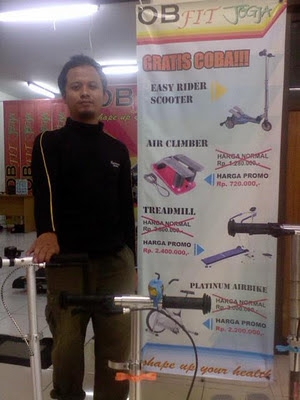 Jual treadmill, home gym, sepeda statis, Air climber