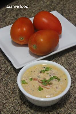 Tomato Perugu Pachadi // Tomato Yogurt Chutney