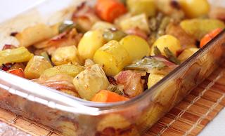 Frango no forno com legumes light