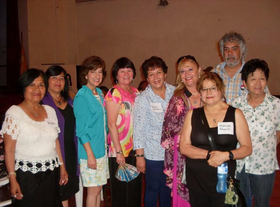 Delegación Chilena junto a colegas peruanos. en Bellas Artes