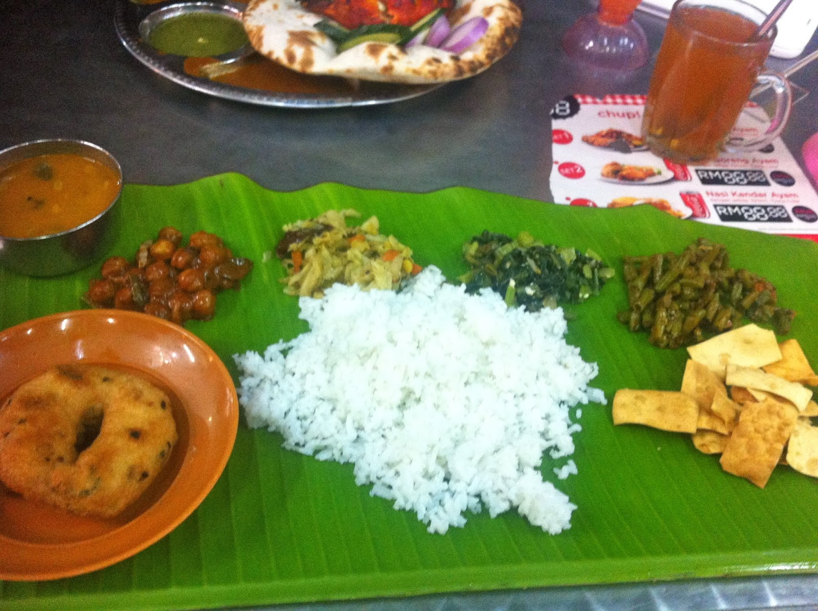 Indian food in the Cameron Highlands, Malaysia