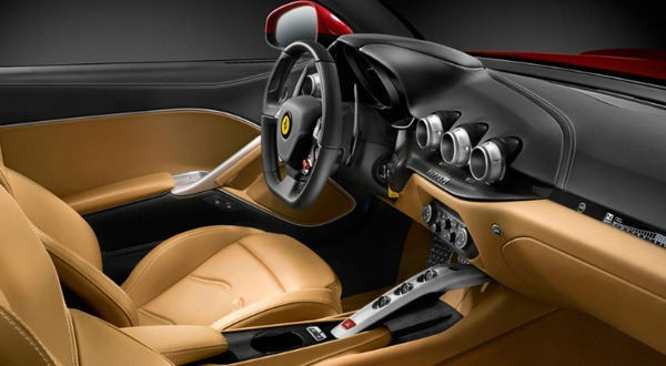 Automobiles tout savoir sur les marques ferrari f12 for Interieur ferrari