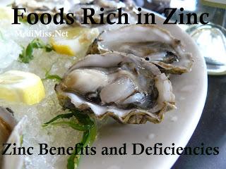 Foods Rich in Zinc – Zinc Benefits and Deficiencies