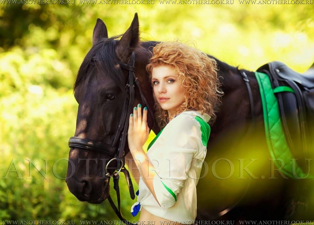 красивый портрет с лошадью