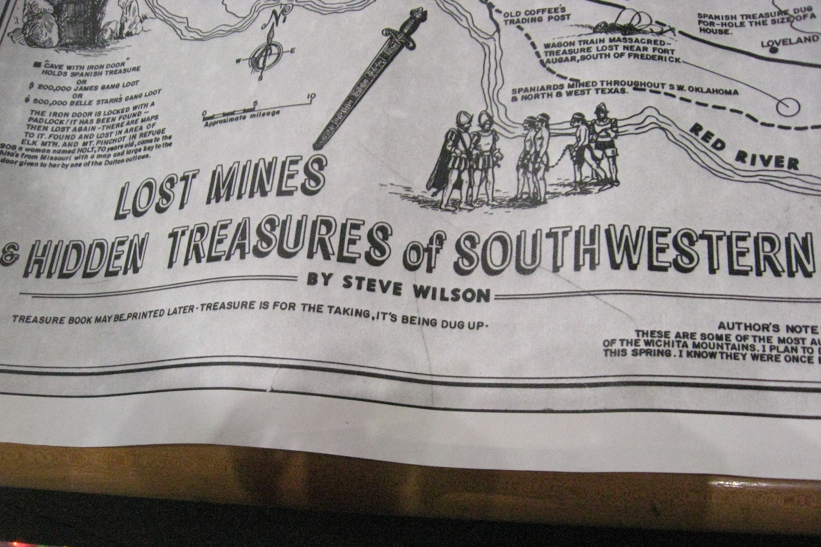 last weekend randy brought out a map of hidden treasures around the wichita mountains the map was produced by steve wilson in 1961 and can be found in the