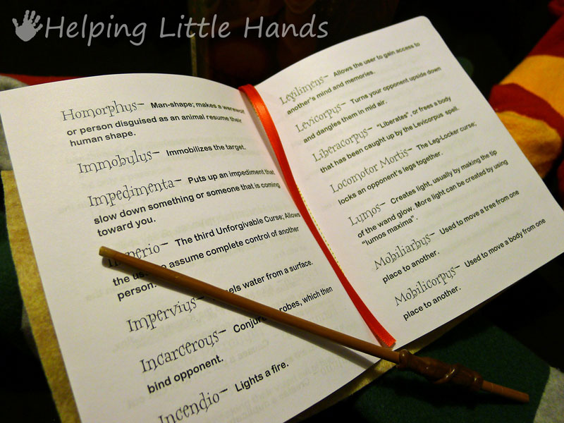 photograph about Harry Potter Spell Book Printable known as Components as a result of Polly: Harry Potter Printable Spell Guides - Sew