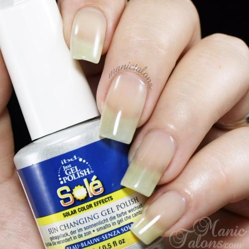 IBD Just Gel Polish Sole Blue Swatch Indoors