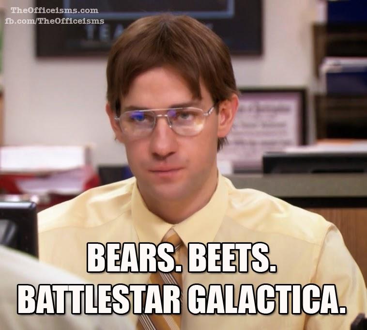 Funny Memes For Office : Bears beets battlestar galactica jim as dwight meme the