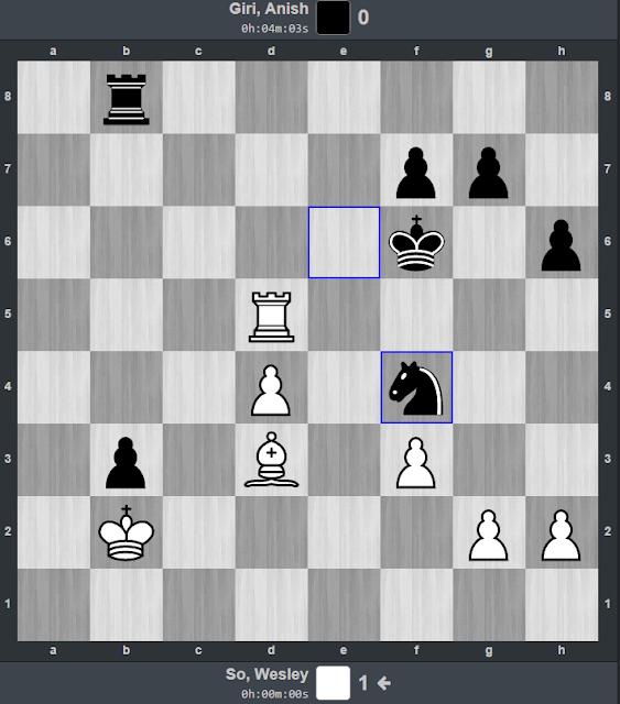 Partida entre Wesley So y Anish Giri en el Bilbao Chess Masters Final 2015