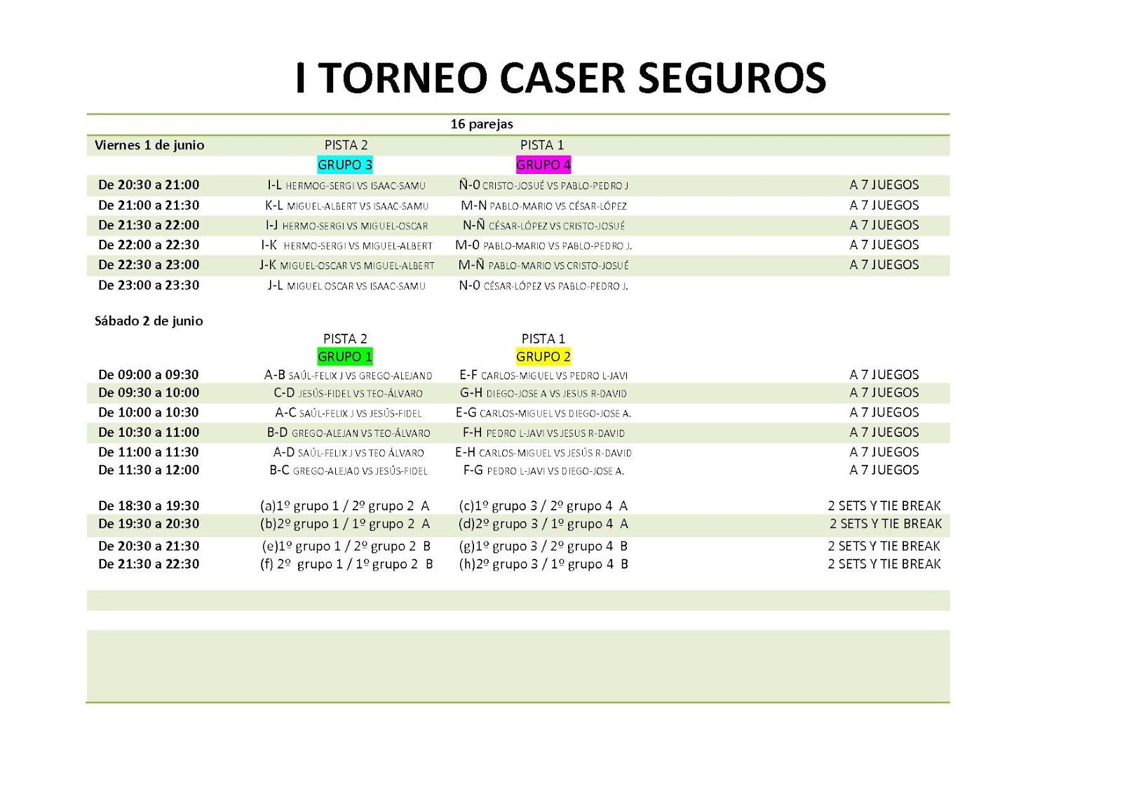 Padel de pedro mu oz mayo 2012 - Caser seguros opiniones ...