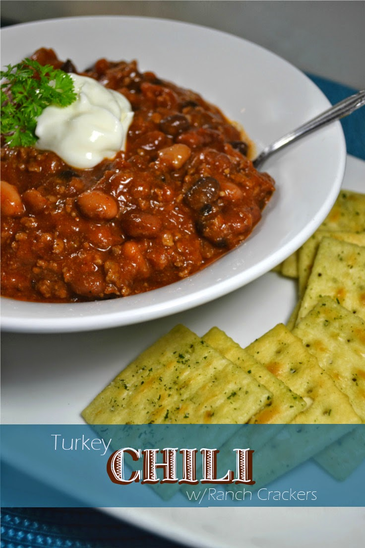 Cheap and Easy Recipe Turkey Chili w/Ranch Crackers (Feed 4 for $4.82)