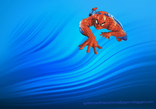 Spiderman Wallpaper Super Hero Peter Parker climbing in Water Ripple background