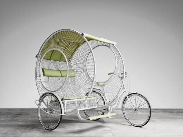 Eclipse pedicab designed by Kenneth Cobonpue