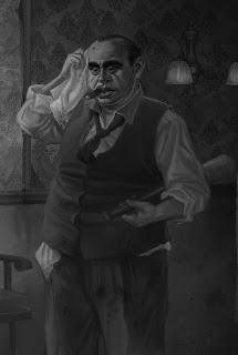 Al Capone,mafia boss,gangster,caricature,vitrina cu bebelouri