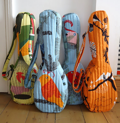 Bird print ukulele gig bags by Ivy Arch