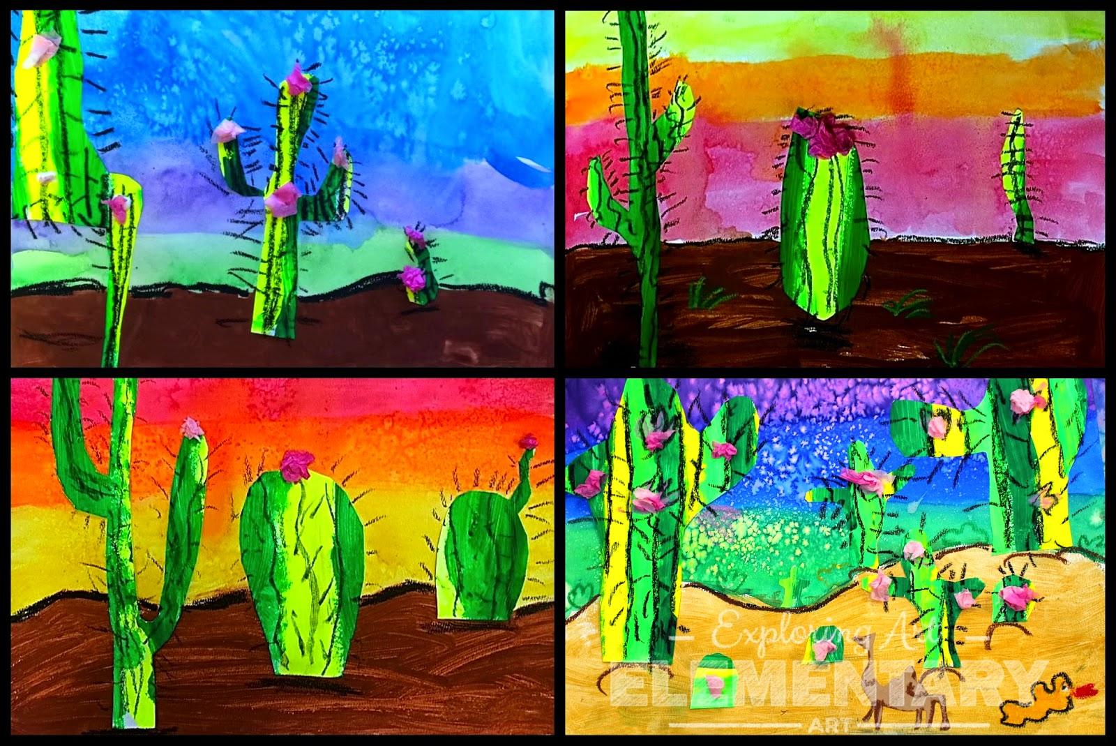 art eat tie dye repeat 2nd grade desert landscapes