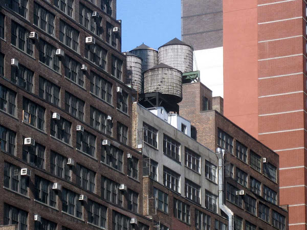 Water Tank Quartet - Above 40th St. at 8th Ave.