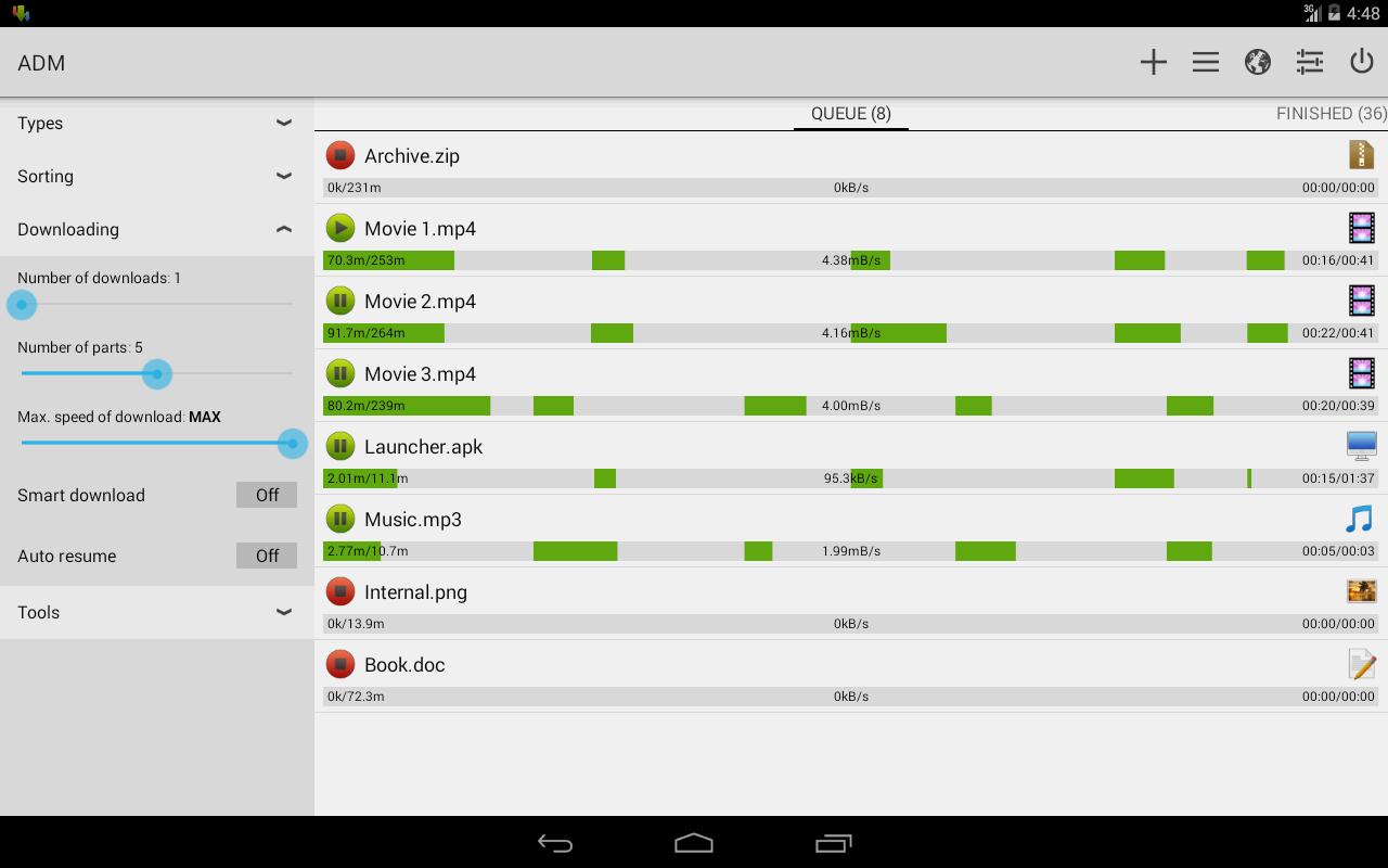 Make Download Manager Android App V4.0.3
