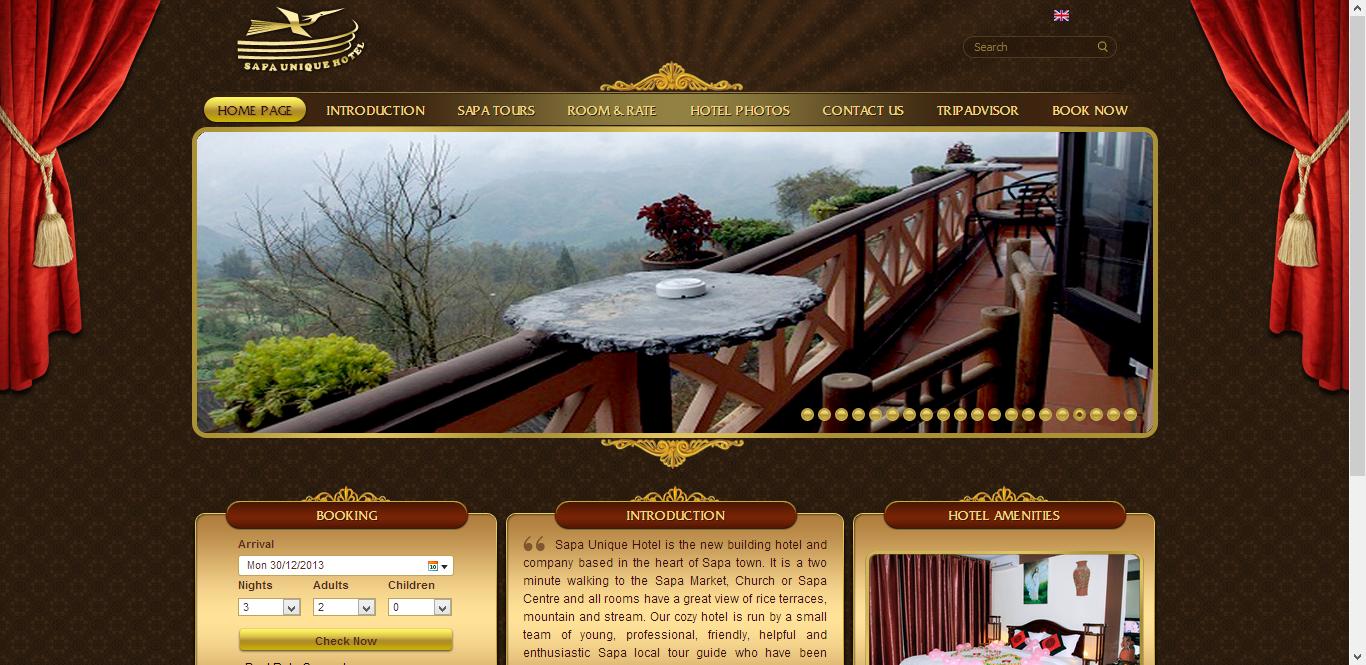 thiết kế web khách sạn chiến lược maketing