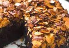 Resep praktis (mudah) kue cake coklat almond spesial, enak, legit, lezat