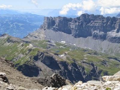 Photo : Alain Rongier (10 août 2012) - Lac et col d'Anterne vus du Buet