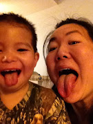 . activities with my nephew is making funny face pictures with him: