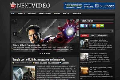 Next Video Blogger Template